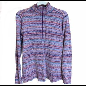Woolrich Aztec Print Quarter Zip Base layer Shirt
